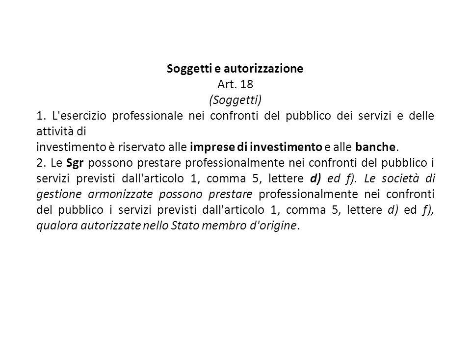 Soggetti e autorizzazione