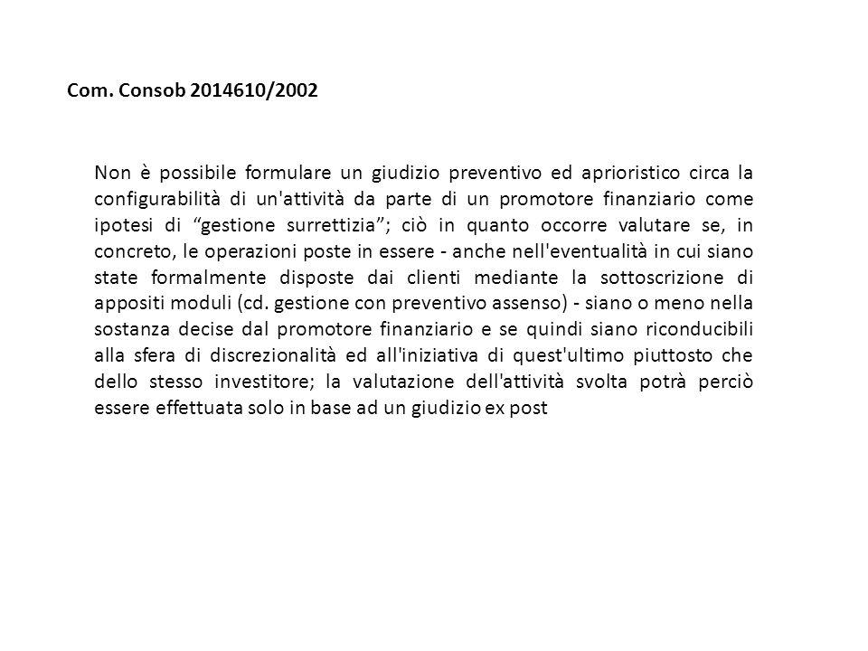 Com. Consob 2014610/2002