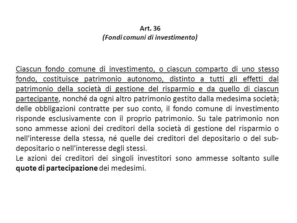 (Fondi comuni di investimento)