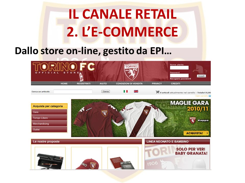 IL CANALE RETAIL 2. L'E-COMMERCE