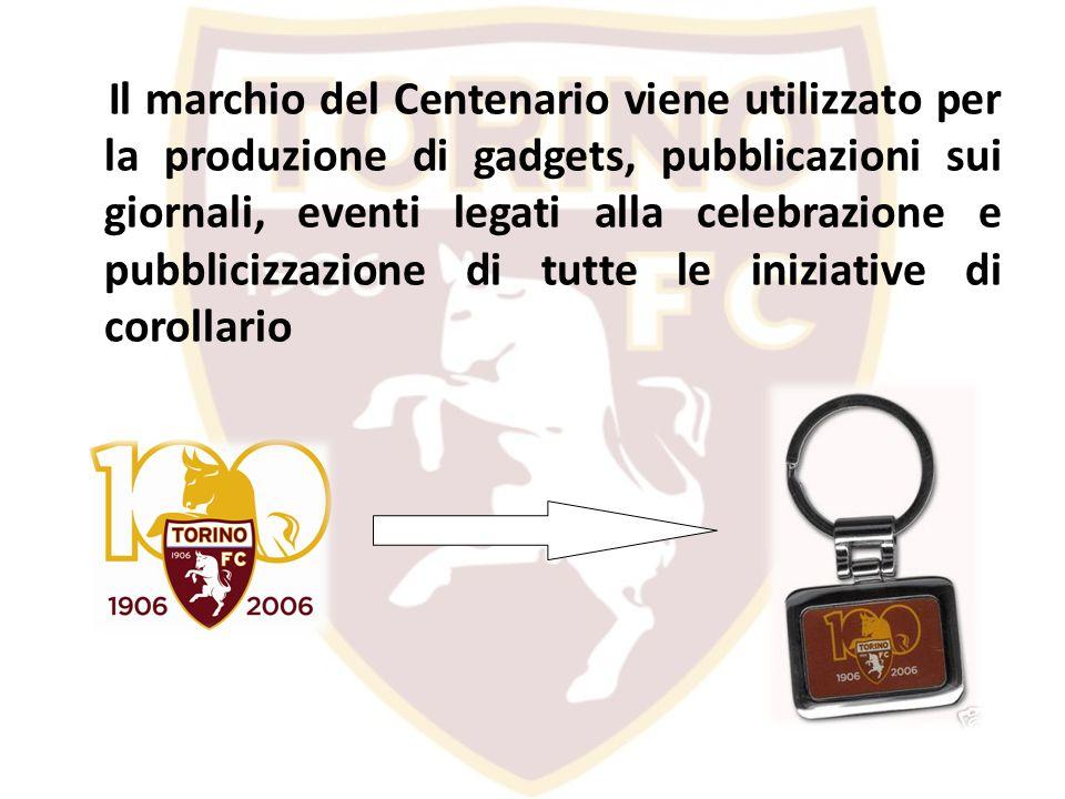 Il marchio del Centenario viene utilizzato per la produzione di gadgets, pubblicazioni sui giornali, eventi legati alla celebrazione e pubblicizzazione di tutte le iniziative di corollario