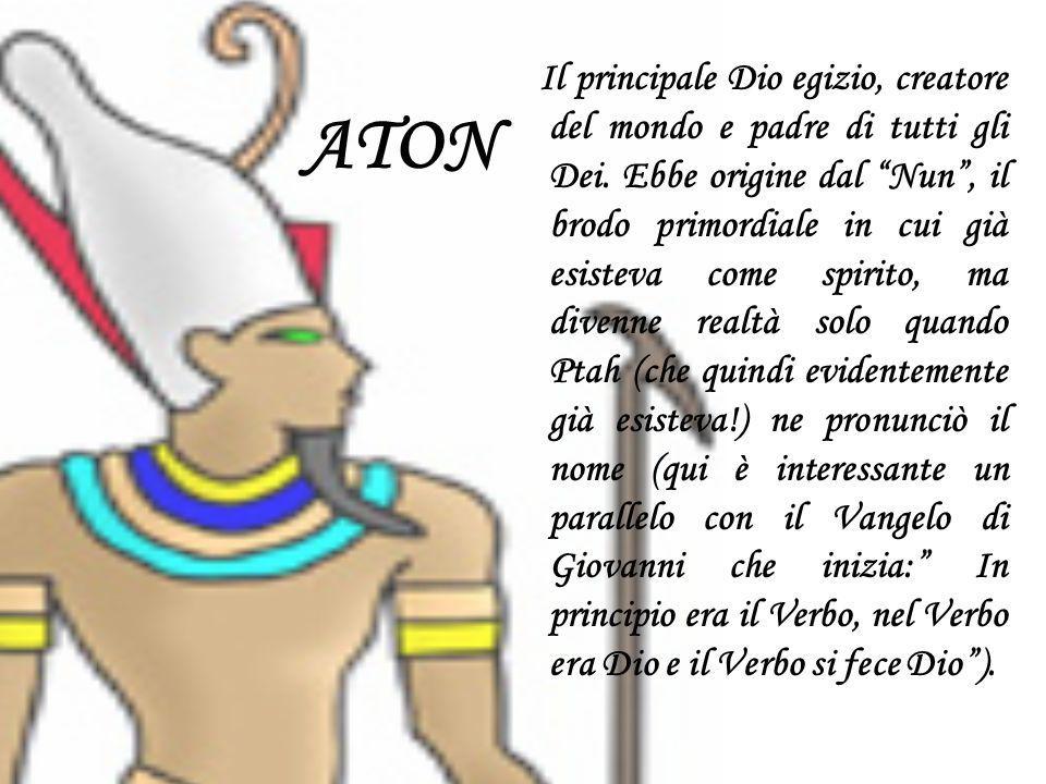 Il principale Dio egizio, creatore del mondo e padre di tutti gli Dei