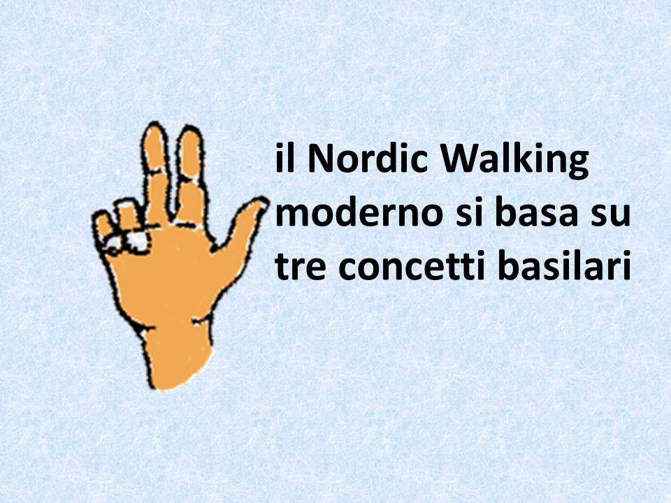 il Nordic Walking moderno si basa su tre concetti basilari