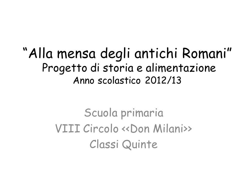 Scuola primaria VIII Circolo <<Don Milani>> Classi Quinte