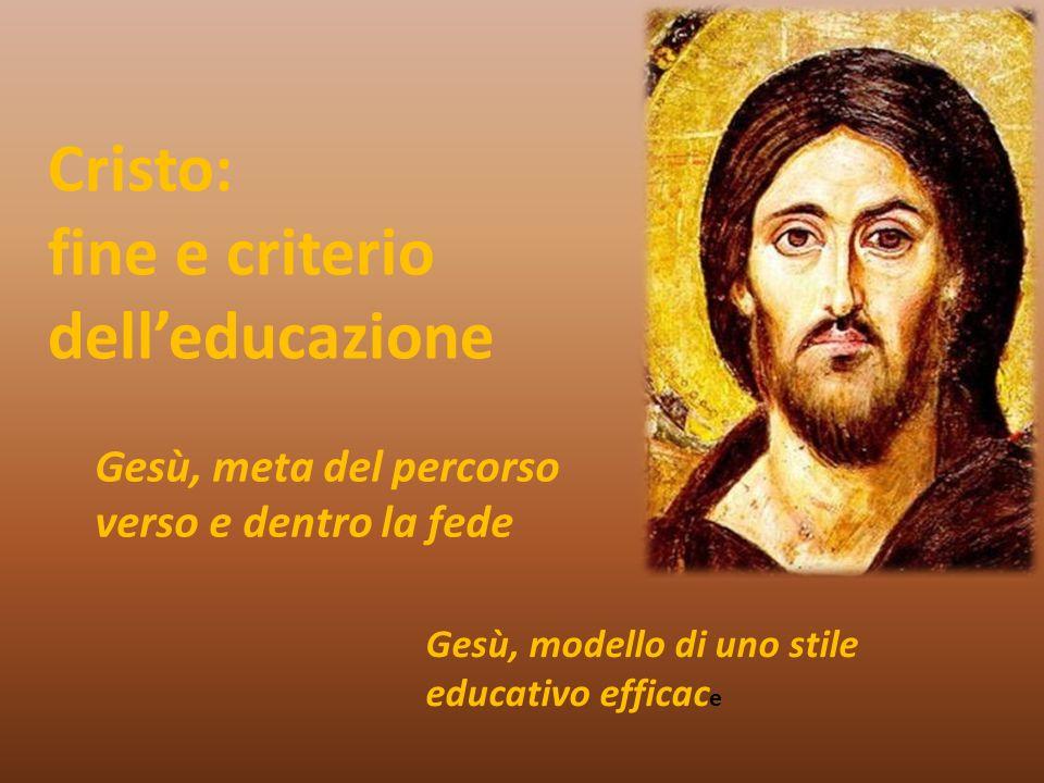 fine e criterio dell'educazione