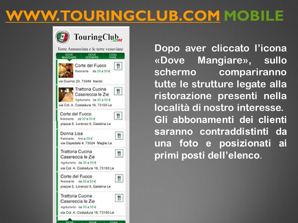 www.touringclub.com MOBILE