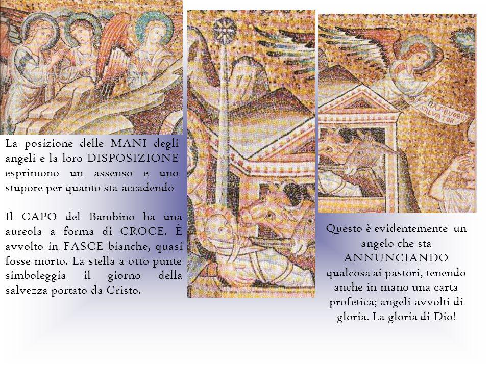 La posizione delle MANI degli angeli e la loro DISPOSIZIONE esprimono un assenso e uno stupore per quanto sta accadendo