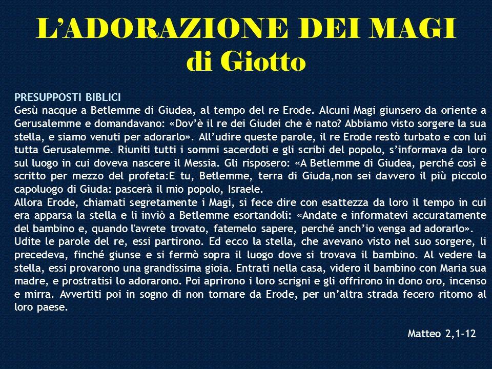 L'ADORAZIONE DEI MAGI di Giotto