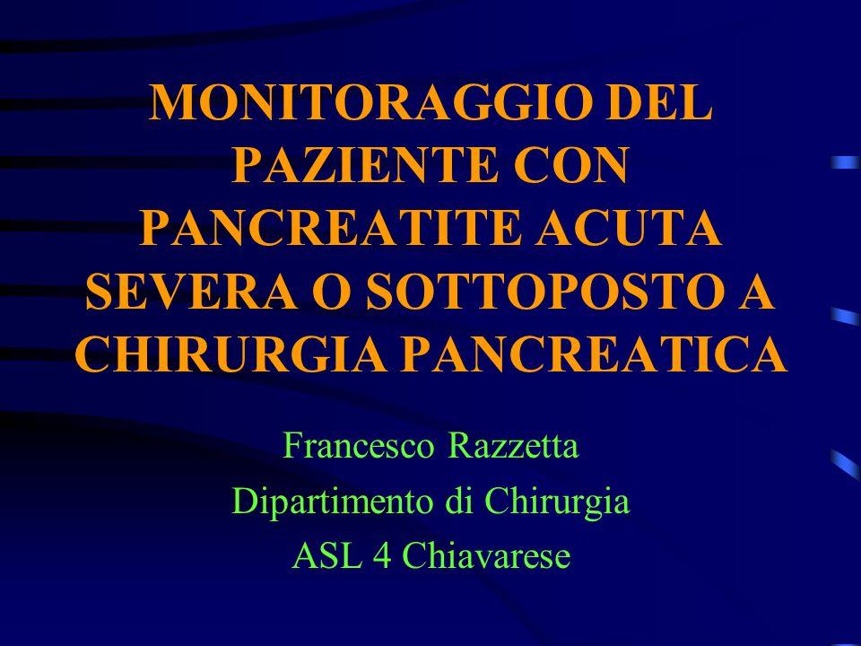 Francesco Razzetta Dipartimento di Chirurgia ASL 4 Chiavarese