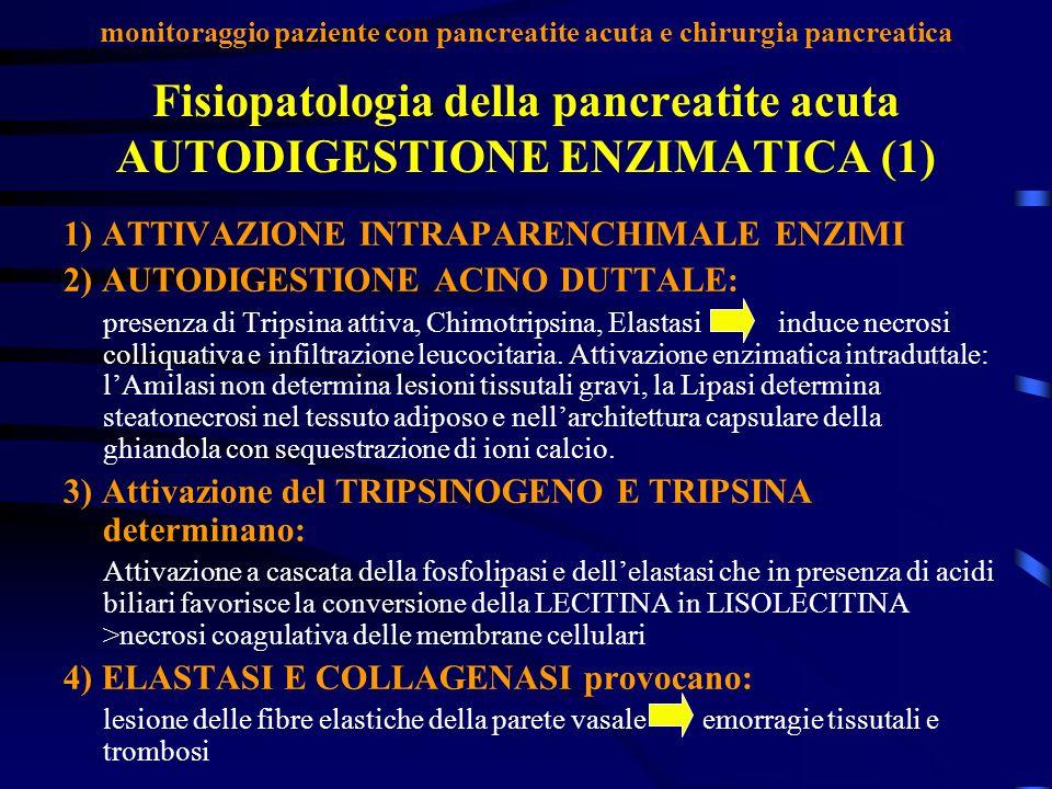 Fisiopatologia della pancreatite acuta AUTODIGESTIONE ENZIMATICA (1)