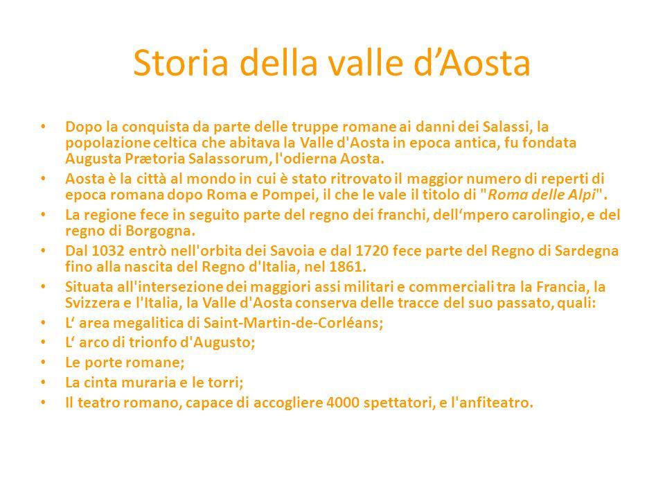 Storia della valle d'Aosta