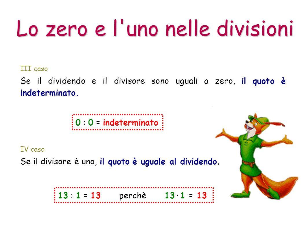 Lo zero e l uno nelle divisioni