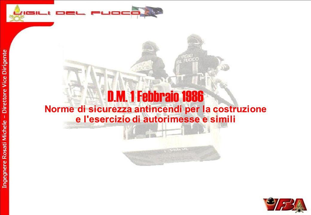 D.M. 1 Febbraio 1986 Norme di sicurezza antincendi per la costruzione
