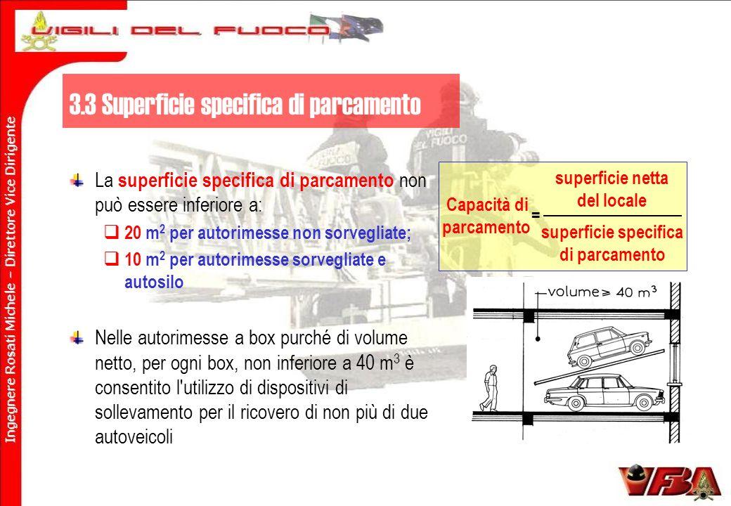 3.3 Superficie specifica di parcamento