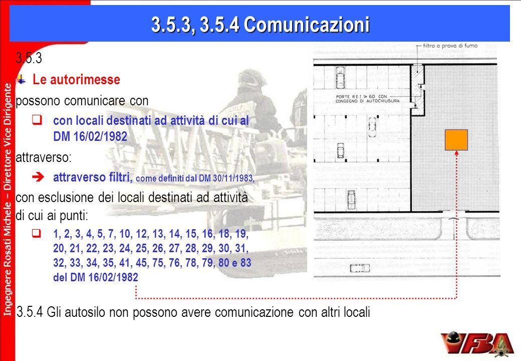 3.5.3, 3.5.4 Comunicazioni 3.5.3 Le autorimesse possono comunicare con