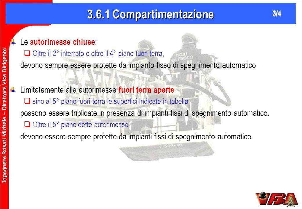3.6.1 Compartimentazione Le autorimesse chiuse: