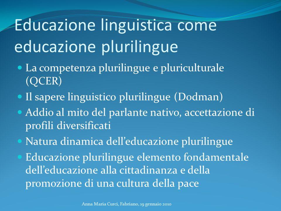 Educazione linguistica come educazione plurilingue