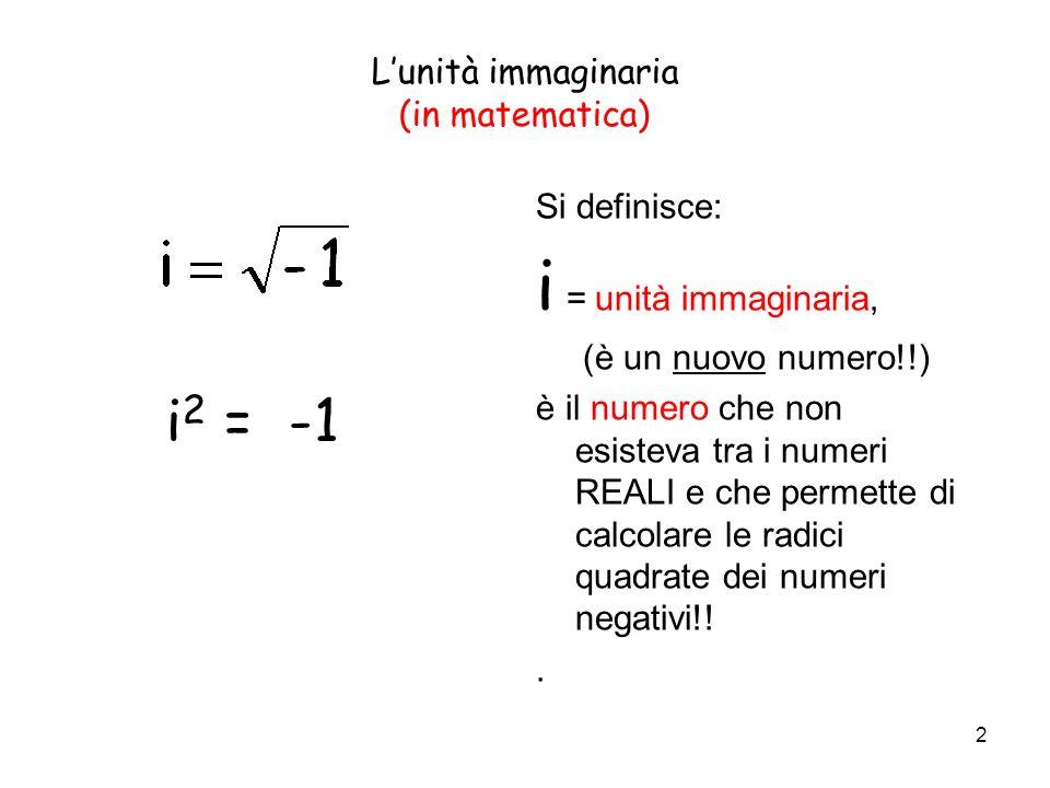 L'unità immaginaria (in matematica)
