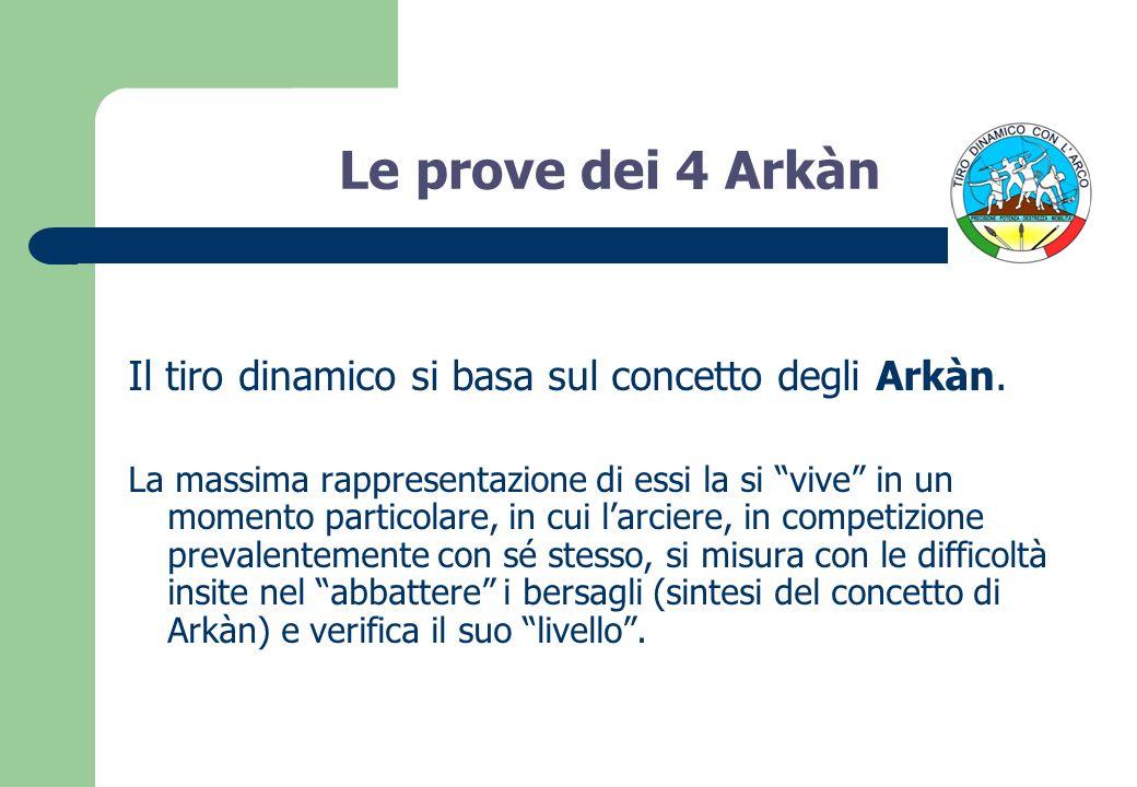 Le prove dei 4 Arkàn Il tiro dinamico si basa sul concetto degli Arkàn.