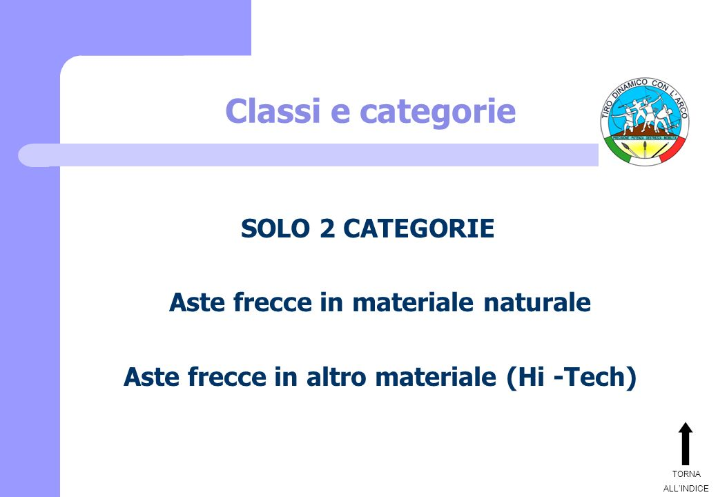 Aste frecce in materiale naturale