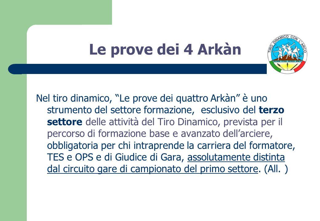 Le prove dei 4 Arkàn