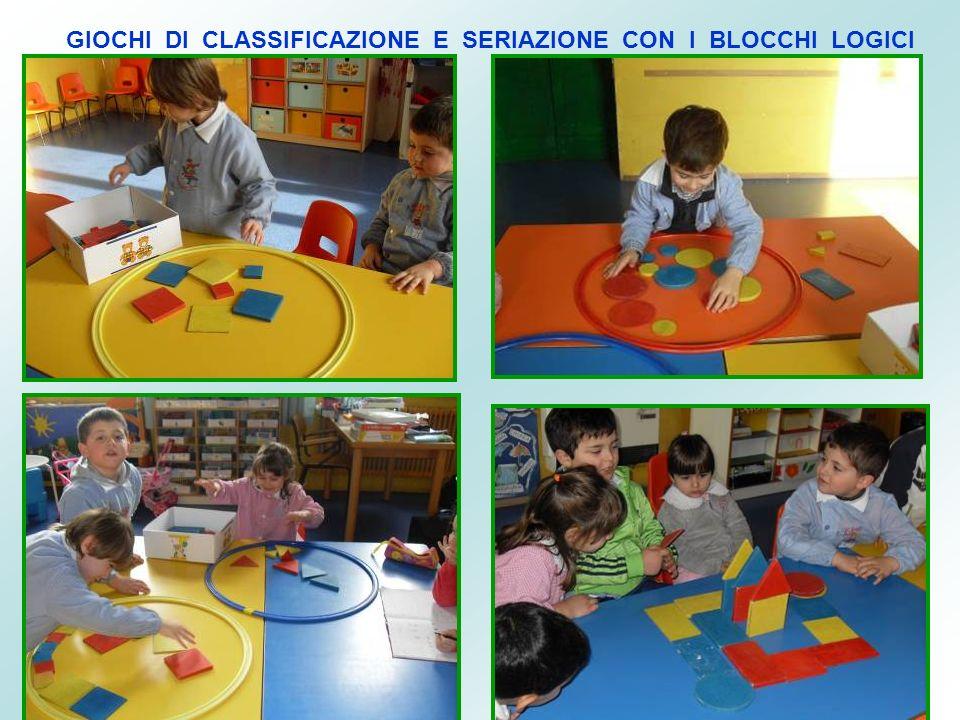 GIOCHI DI CLASSIFICAZIONE E SERIAZIONE CON I BLOCCHI LOGICI