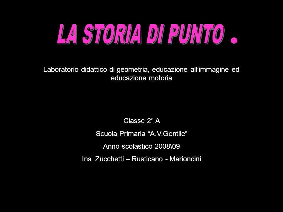 LA STORIA DI PUNTO Laboratorio didattico di geometria, educazione all'immagine ed educazione motoria.