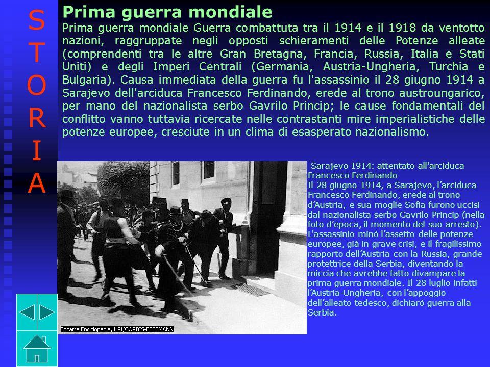 STORIA Prima guerra mondiale