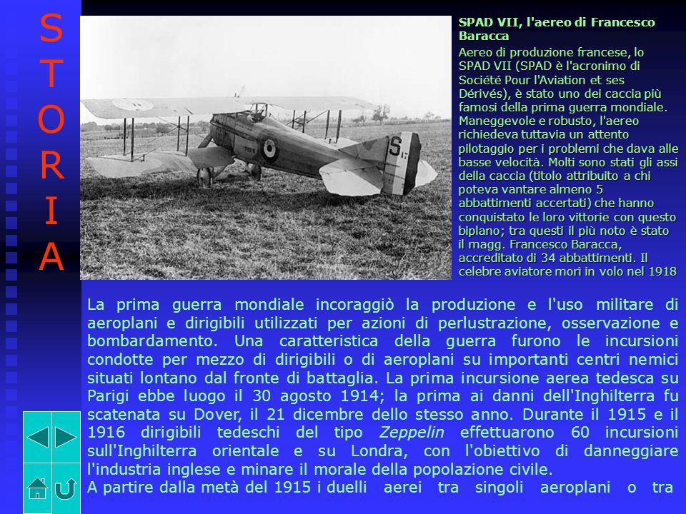 STORIA SPAD VII, l aereo di Francesco Baracca.