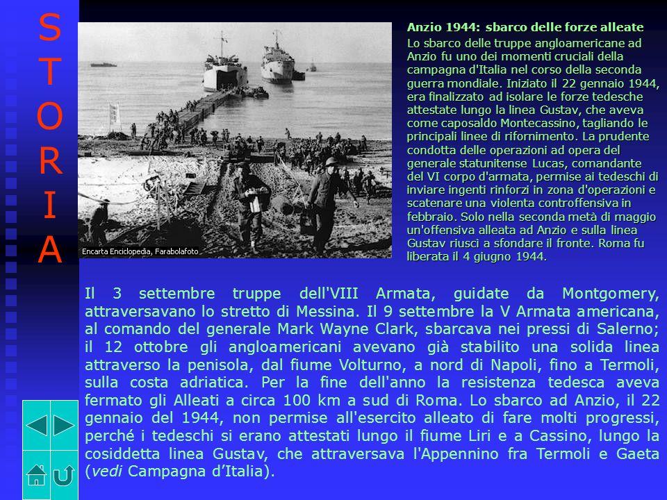STORIA Anzio 1944: sbarco delle forze alleate.