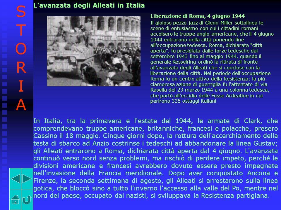 STORIA L avanzata degli Alleati in Italia