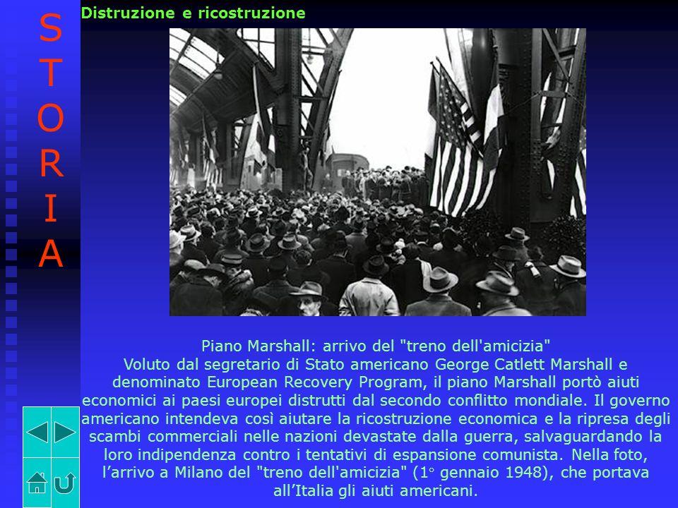 Piano Marshall: arrivo del treno dell amicizia