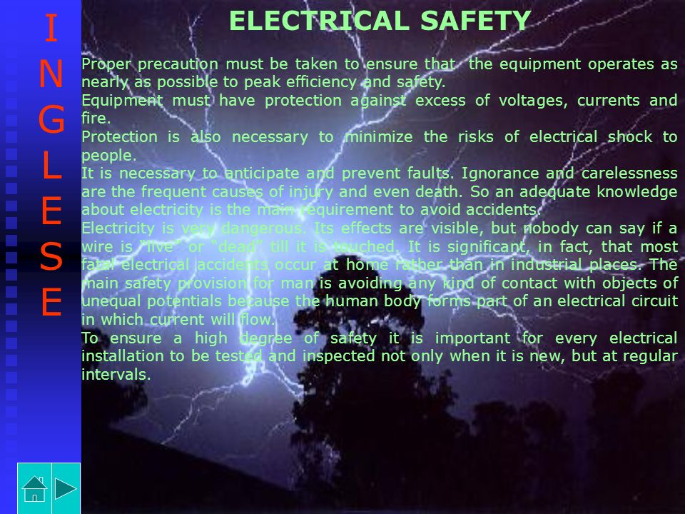 INGLESE ELECTRICAL SAFETY