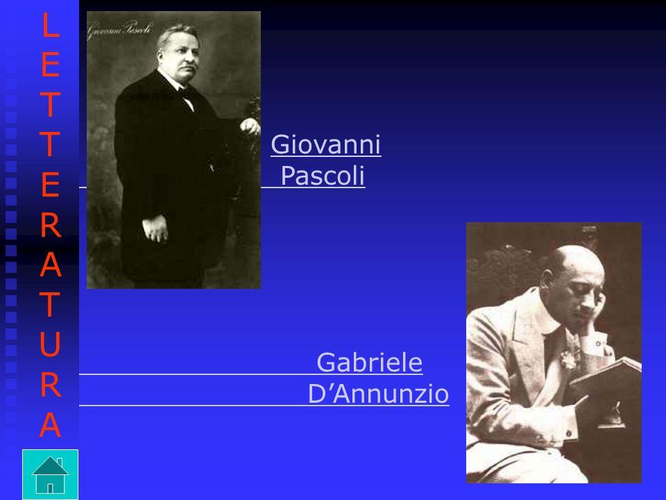 LETTERATURA Giovanni Pascoli Gabriele D'Annunzio