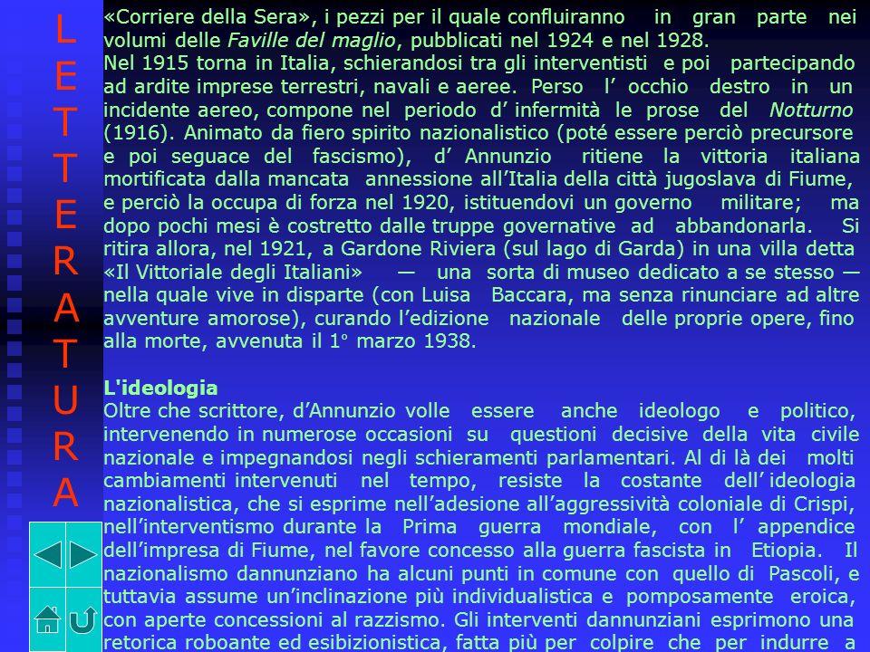 LETTERATURA «Corriere della Sera», i pezzi per il quale confluiranno in gran parte nei.