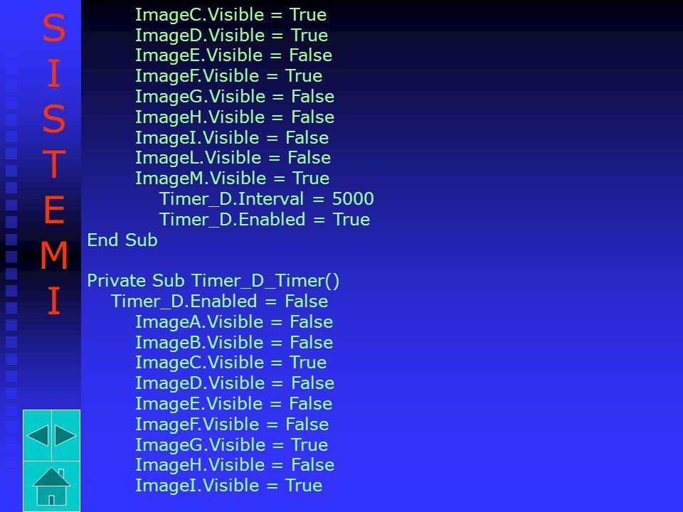 S I T E M ImageC.Visible = True ImageD.Visible = True