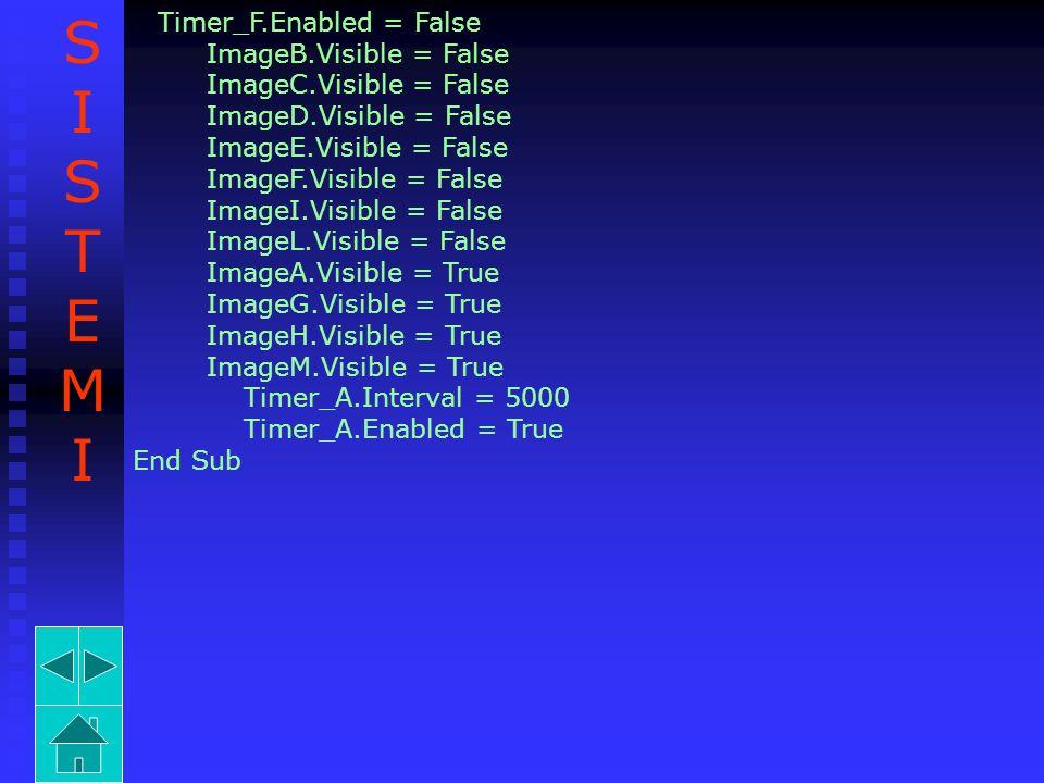 S I T E M ImageB.Visible = False ImageC.Visible = False