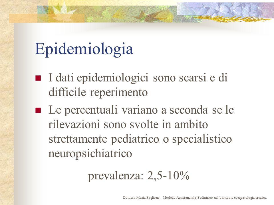 Epidemiologia I dati epidemiologici sono scarsi e di difficile reperimento.