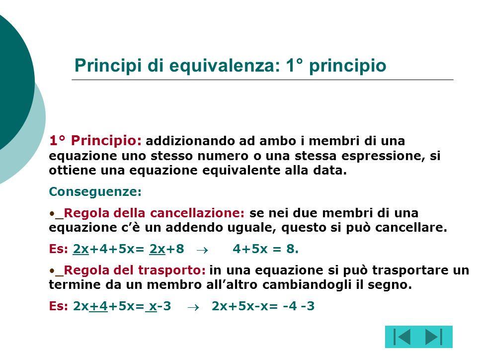 Principi di equivalenza: 1° principio