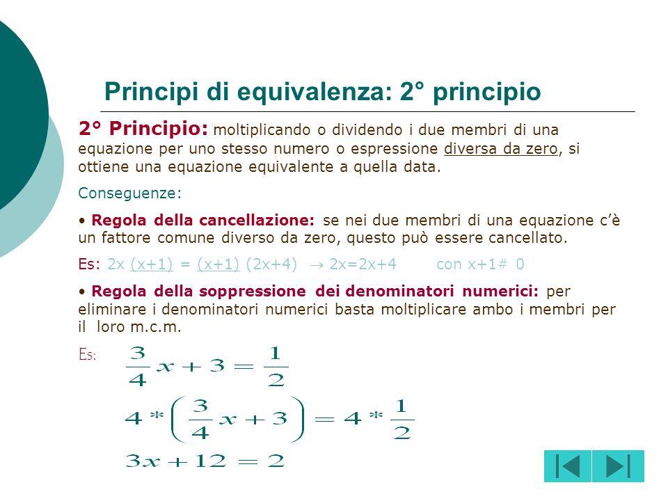 Principi di equivalenza: 2° principio
