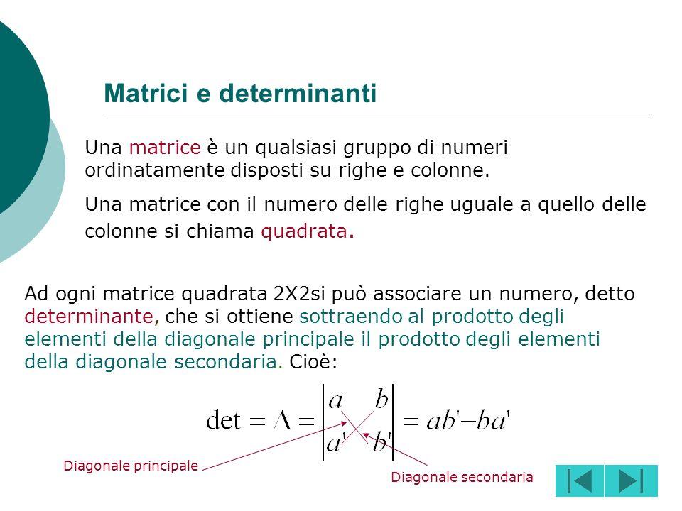 Matrici e determinanti