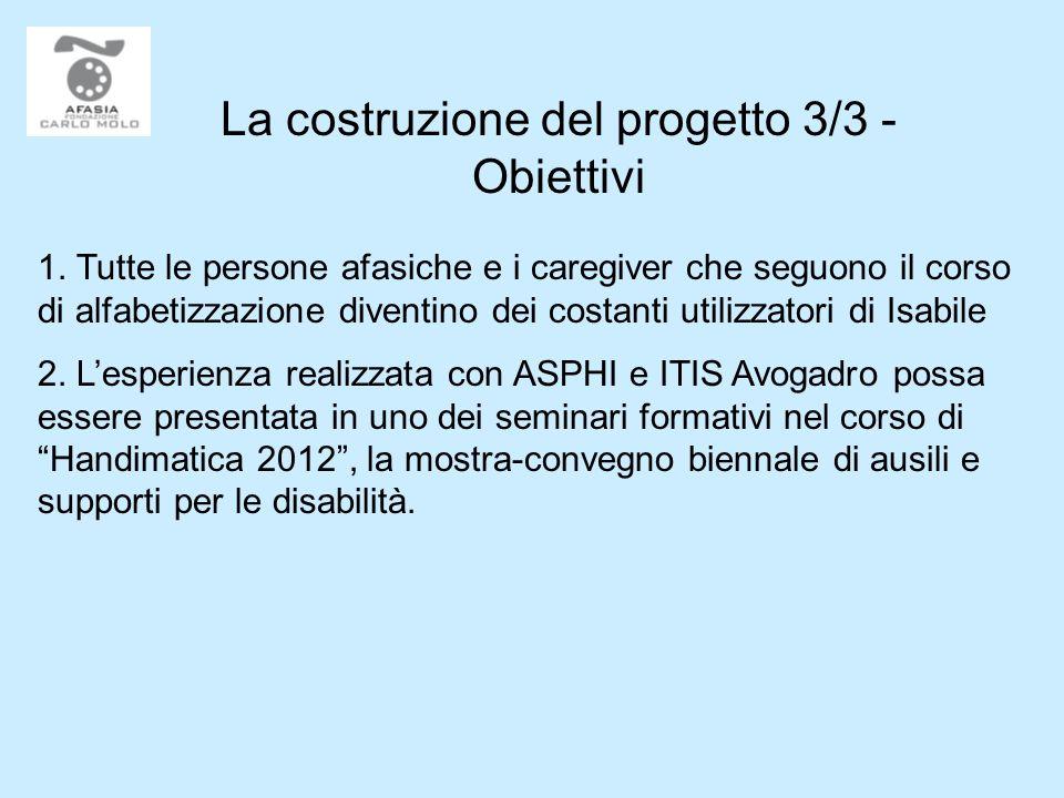 La costruzione del progetto 3/3 - Obiettivi