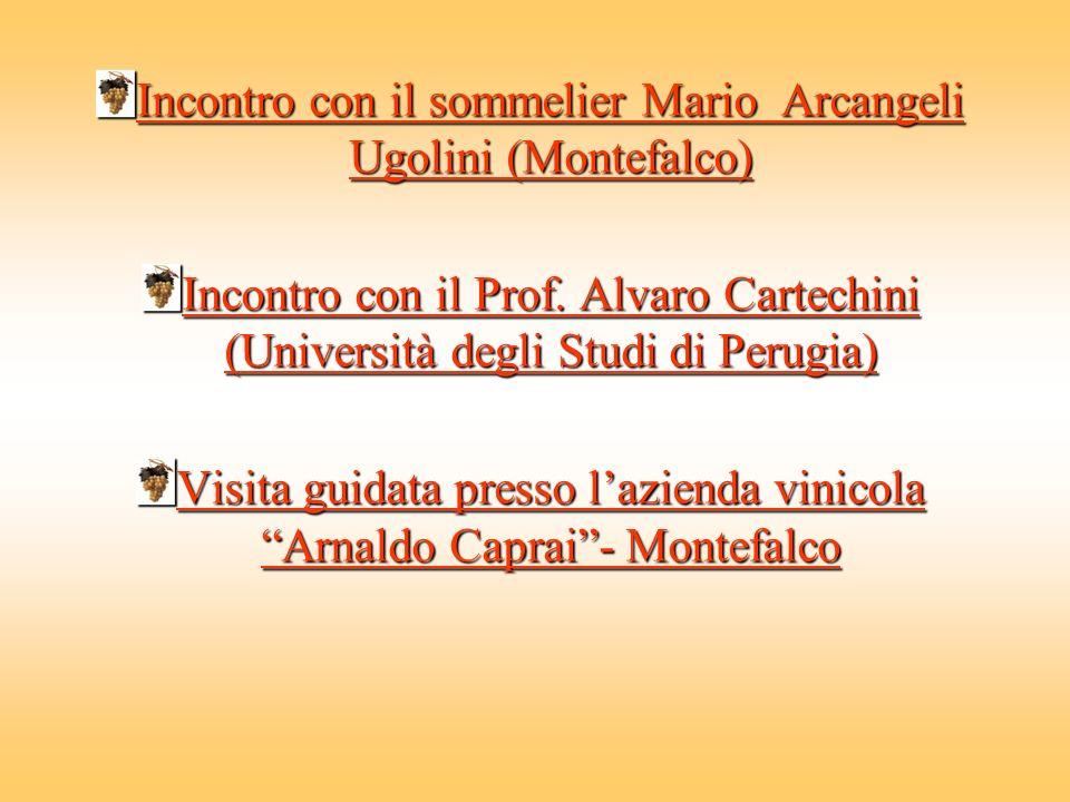 Incontro con il sommelier Mario Arcangeli Ugolini (Montefalco)