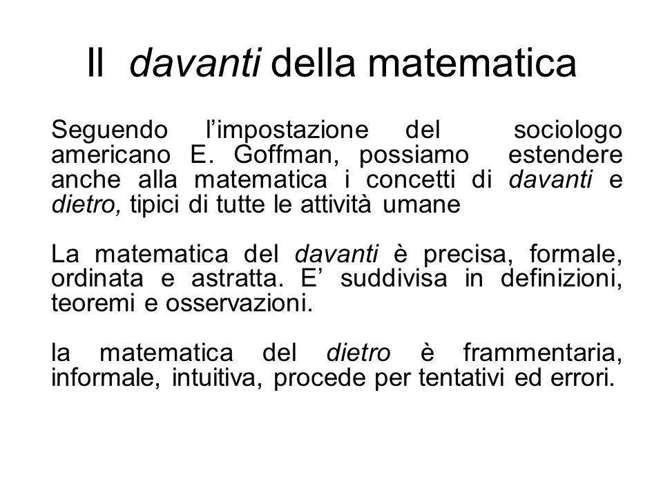 Il davanti della matematica
