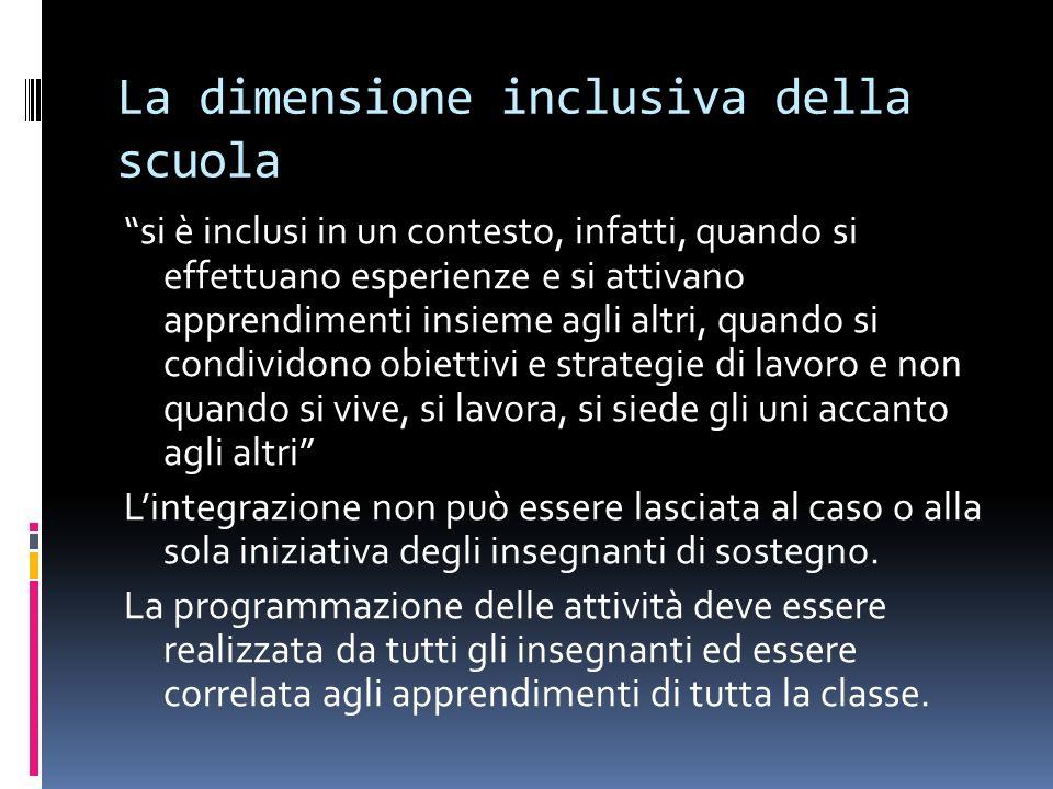 La dimensione inclusiva della scuola