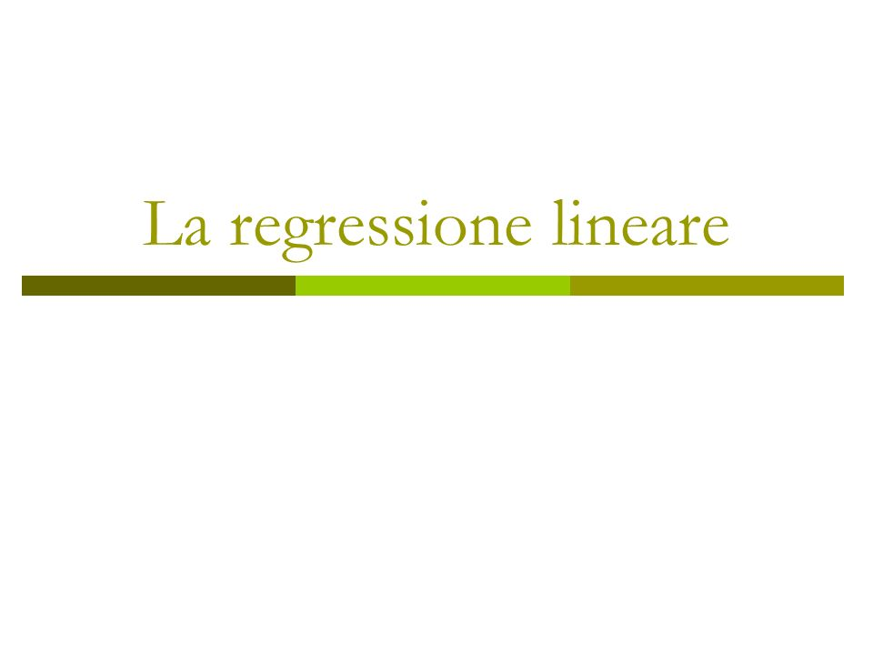 La regressione lineare