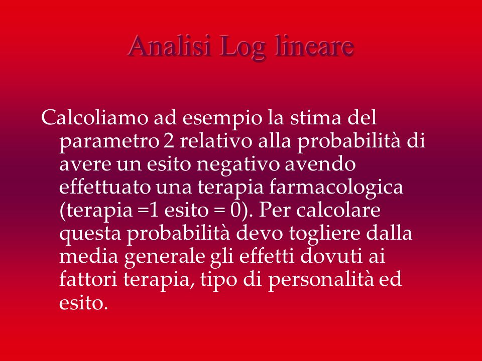 Analisi Log lineare