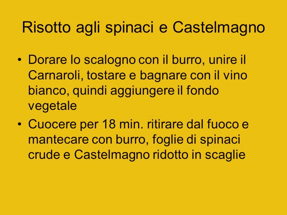 Risotto agli spinaci e Castelmagno