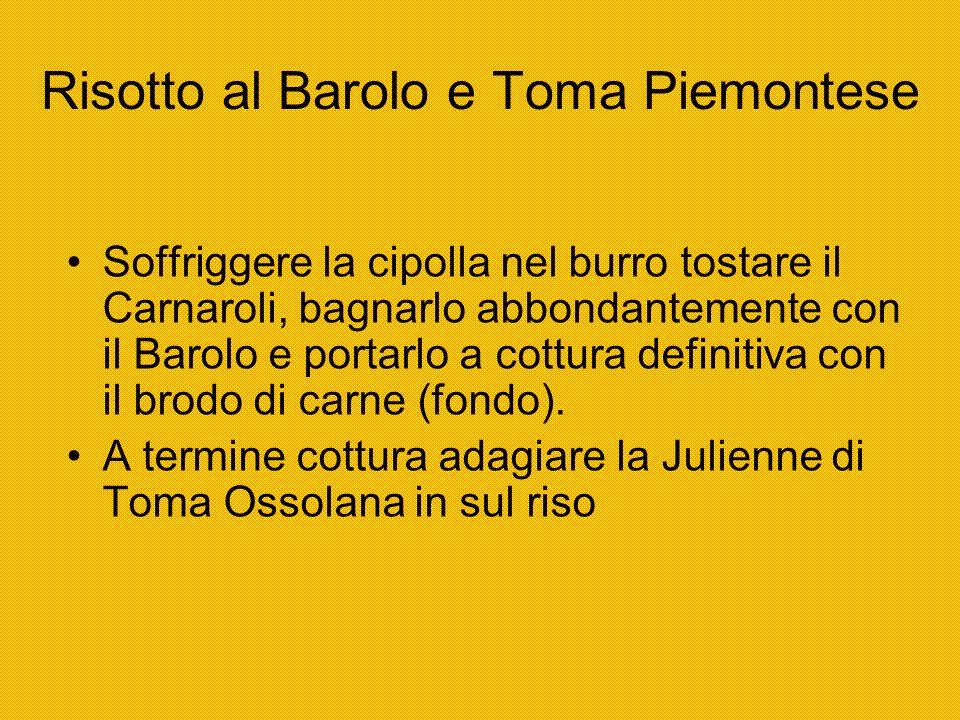 Risotto al Barolo e Toma Piemontese
