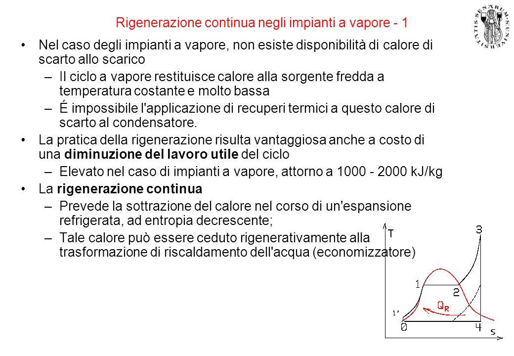 Rigenerazione continua negli impianti a vapore - 1
